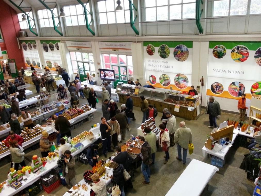 Napi élelmiszerpiac, vásárcsarnok - Nagykanizsa