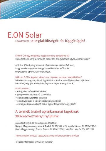 Eon solar bemutatkozó