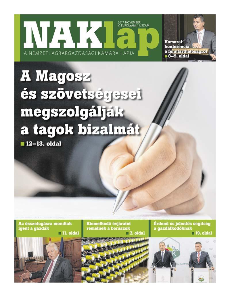 NAKlap 2017. november V. évf. 11