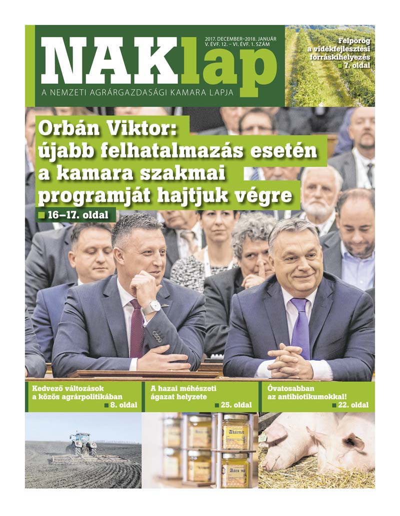 NAKlap 2017. dec. V. évf. 12. - 2018. jan. VI. évf. 1