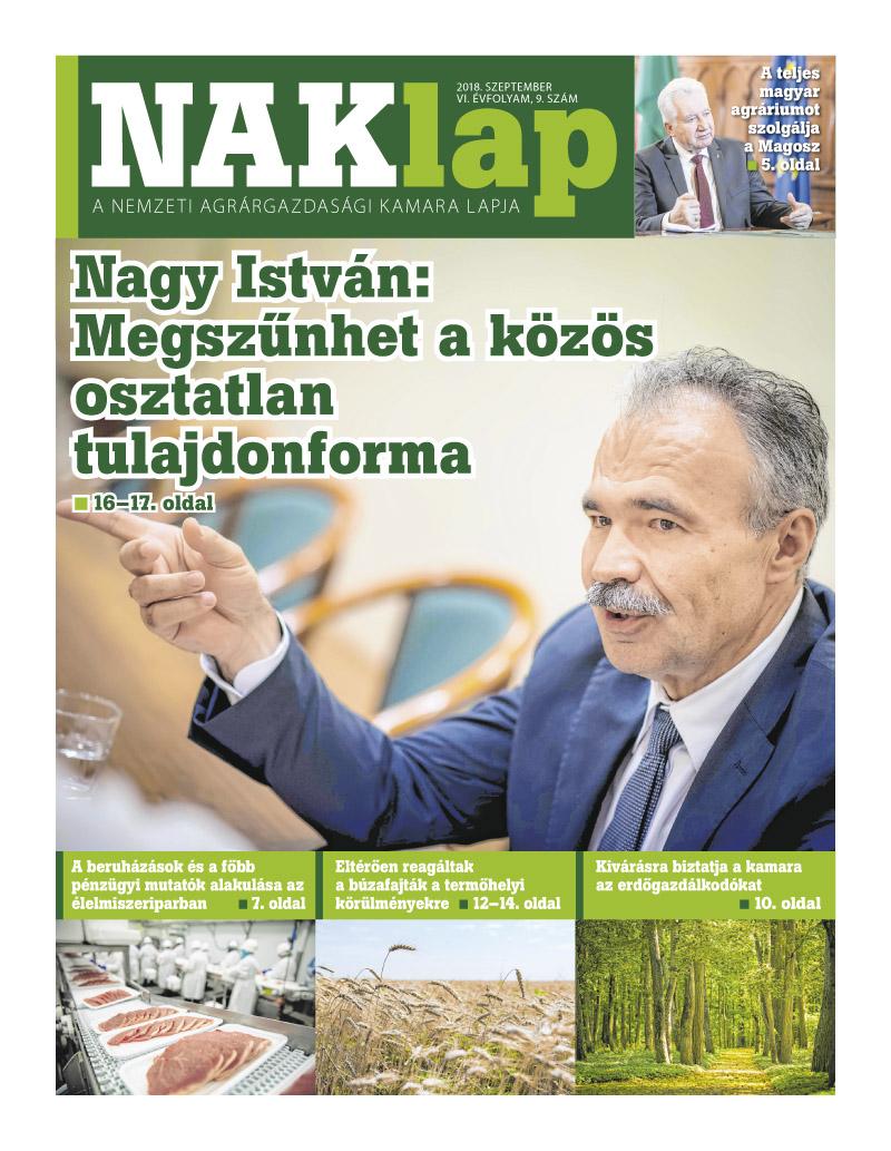 NAKlap 2018. szeptember VI. évf. 9